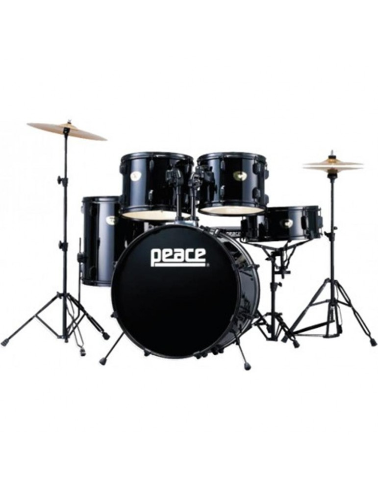 BATTERIA ACUSTICA PEACE CELEBRITY DP-101  BLACK  completa di piatti