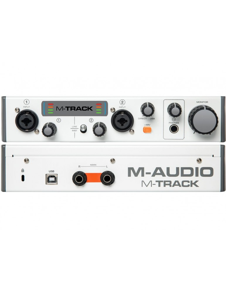 M AUDIO M-TRACK MKII INTERFACCIA SCHEDA AUDIO USB MIDI 2 IN 2 OUT MTRACK MK2