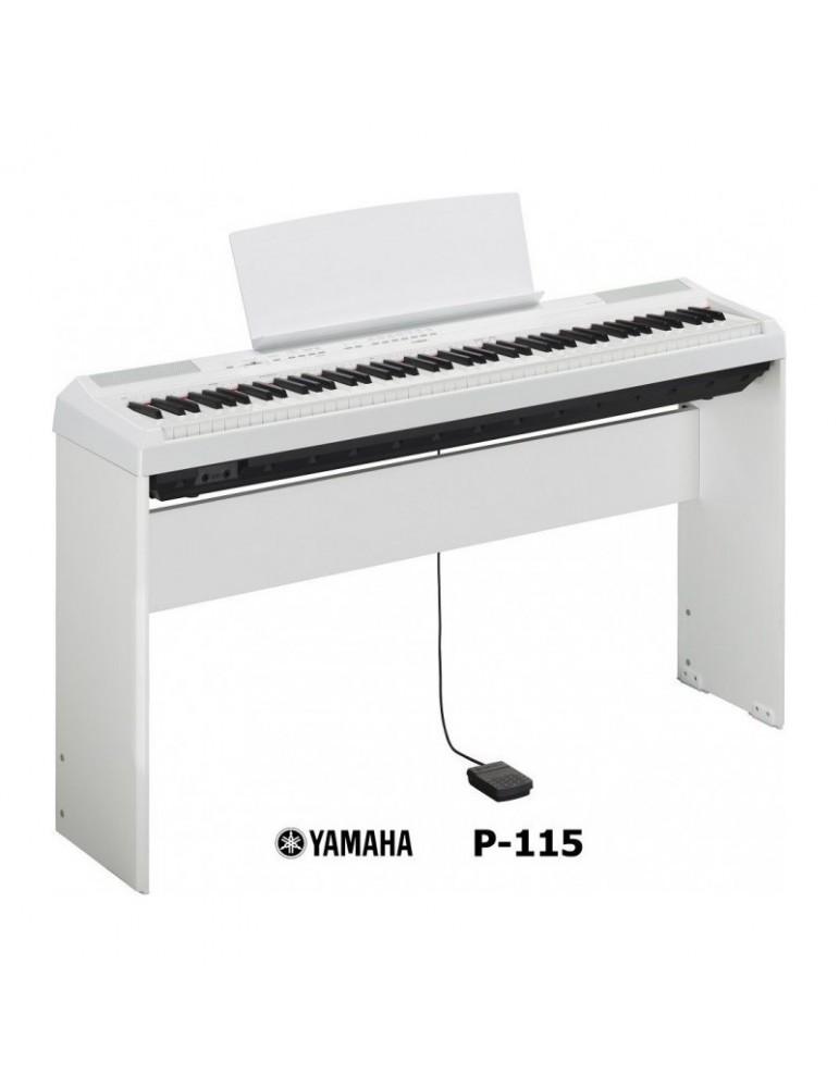 PIANOFORTE DIGITALE YAMAHA P115 BIANCO +STAND L85 OFFERTA!!!