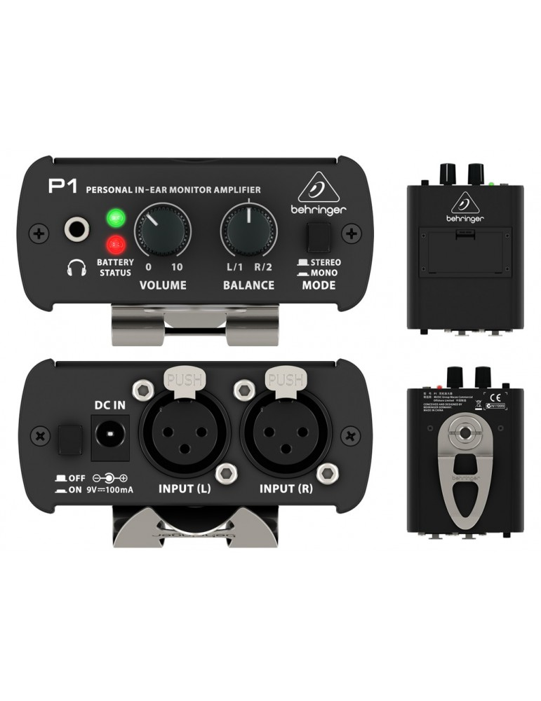 AMPLIFICATORE PER CUFFIE BEHRINGER P1 POWERPLAY