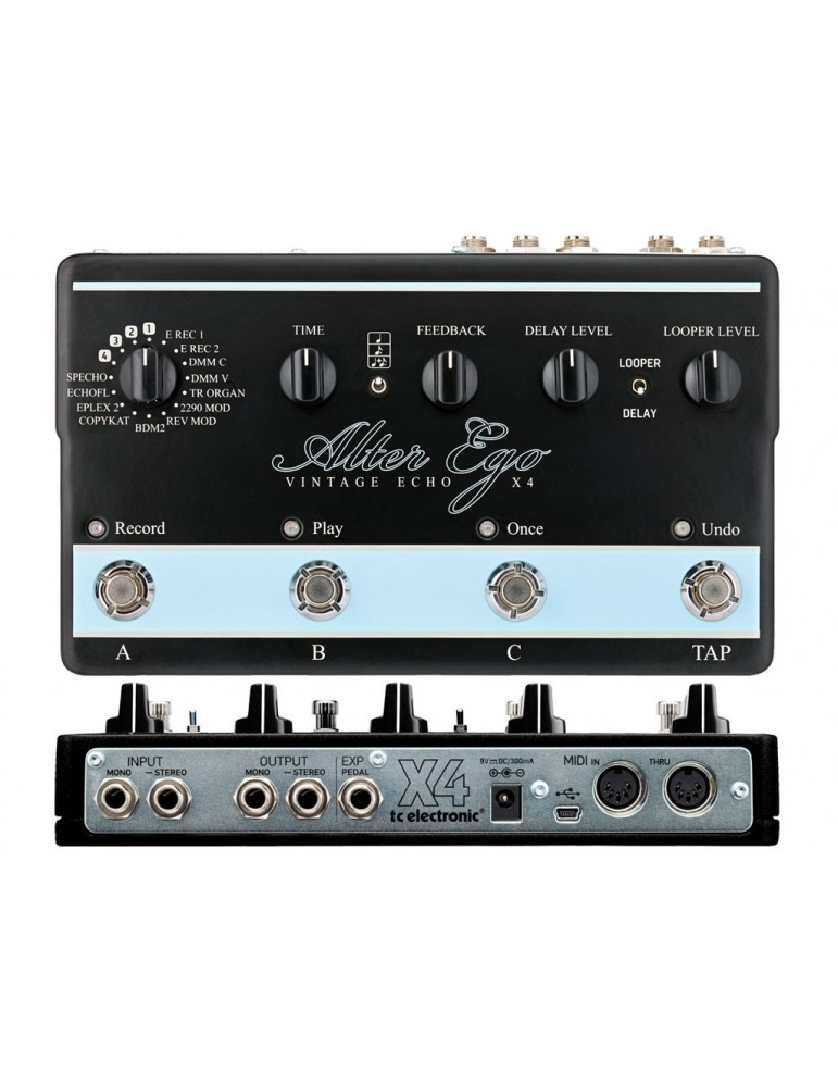 TC ELECTRONIC Alter Ego X4 Vintage Echo - EFFETTO DIGITAL DELAY/LOOPER VINTAGE