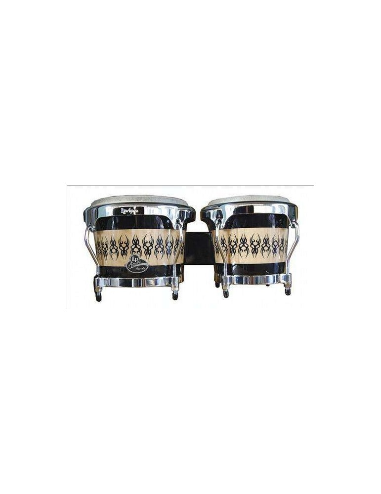 LATIN PERCUSSION BONGOS ASPIRE ACCENTS SCARABEO LPA601 IN LEGNO SCARAB/CHROME