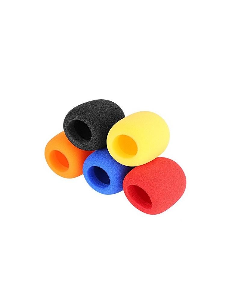Confezione 5 Antivento colorati Mic sferico W-40-C