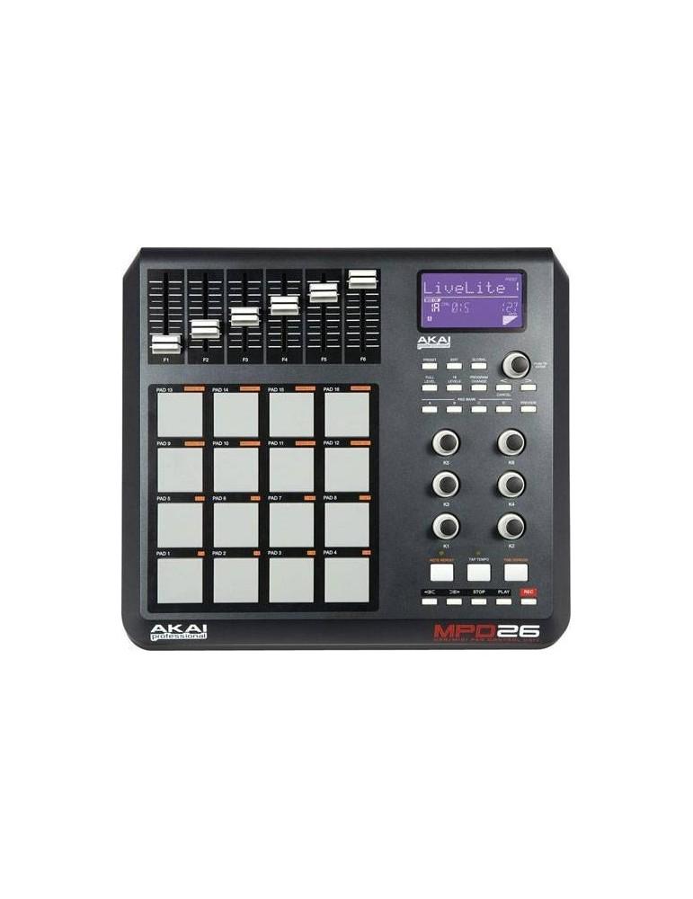 AKAI MPD 26 CONTROLLER USB/MIDI PROFESSIONALE PER STUDI E DJ