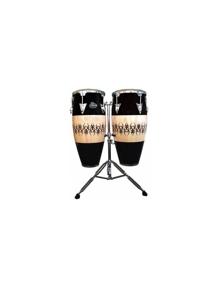 "LP ASPIRE ACCENT LPA646SCC COPPIA CONGAS SET 10"" & 11"" CON SUPPORTO"