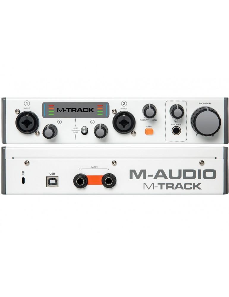 M AUDIO M-TRACK MKII INTERFACCIA SCHEDA AUDIO USB MIDI 2 IN 2 OUT MTRACK MK2