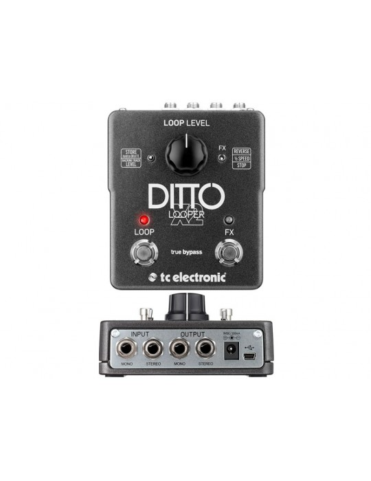 TC ELECTRONIC Ditto X2 Looper - EFFETTO LOOPER STEREO A PEDALE
