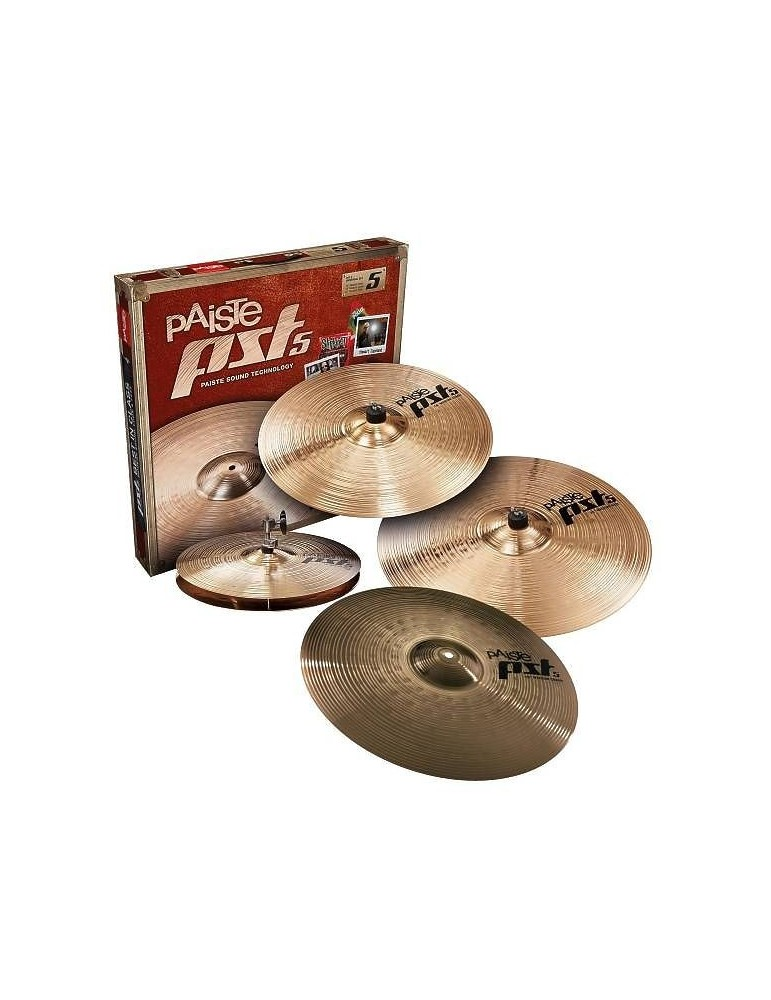 SET PIATTI PAISTE PST5 UNIVERSAL SET HH14+CRASH16+RIDE20+CRASH18