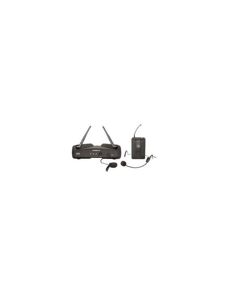 Proel WM202H RADIOMICROFONO HEADSET+LEVALIER 1 CANALE